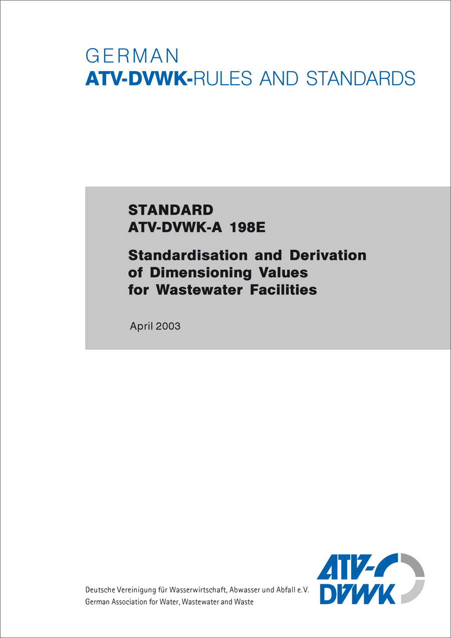 ATV-DVWK-A 198 - Standardisation (4/2003)