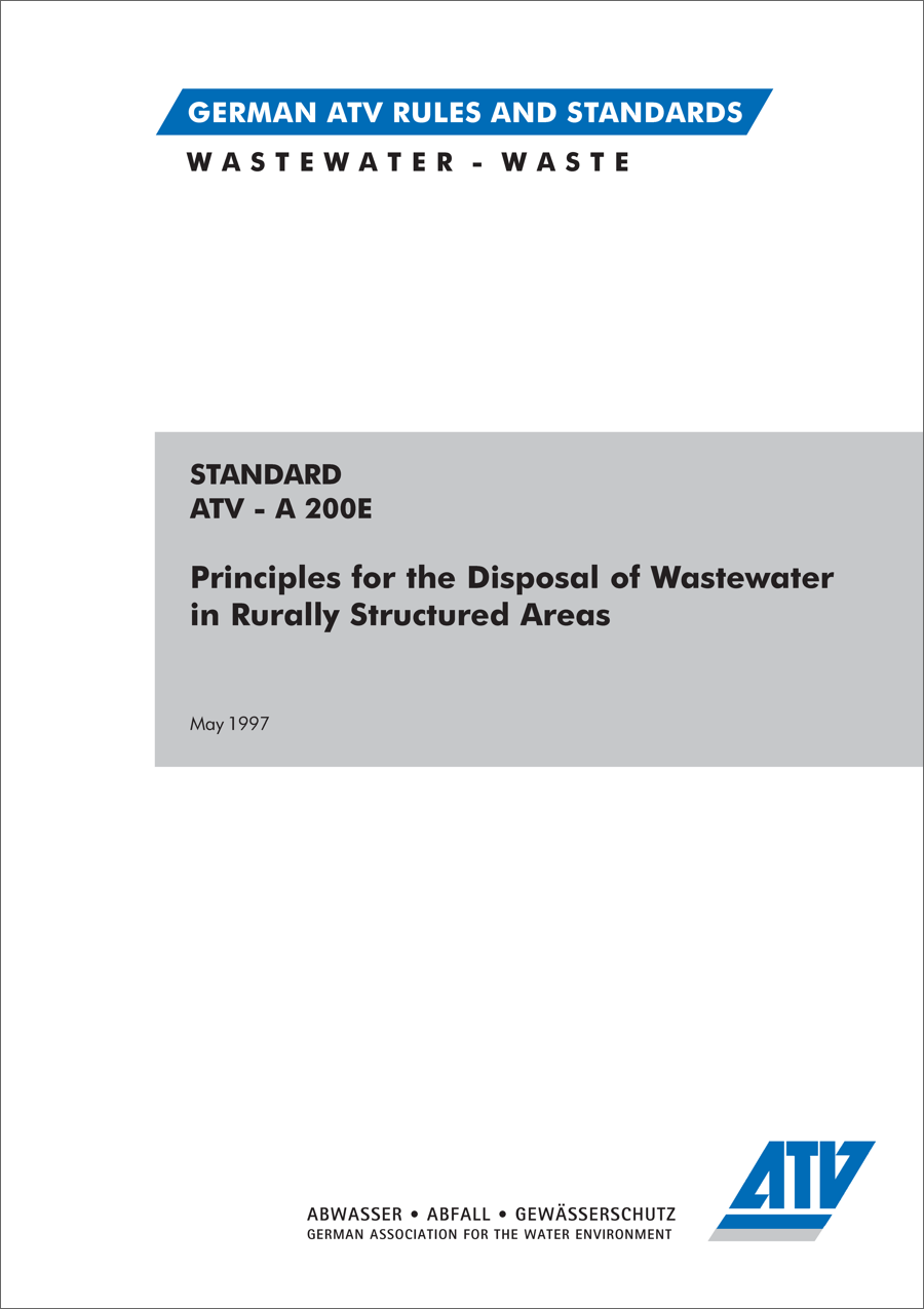 ATV-A 200 - Wastewater Rurally Areas (5/1997)